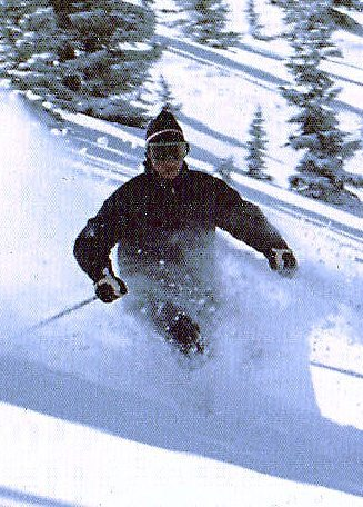 author Larry Kelley skiing