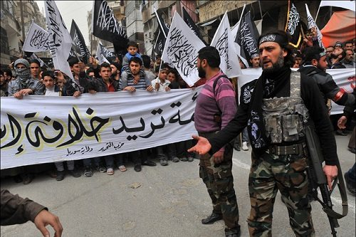 Abu Baker al-Baghdadi (right)