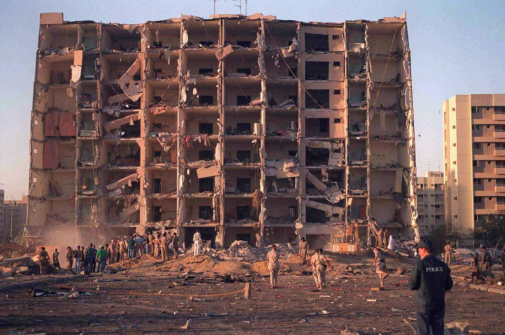 File Photo of the Khobar Towers after bombing attack