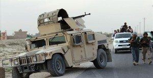 US Involvement Continues. Humvee patrol unit on standby.  Source:  http://townhall.com/columnists/larrykelley/2015/10/28/draft-n2071743/page/full